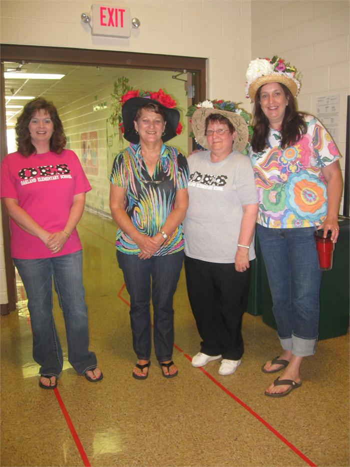 OES Staff Derby Day Hat Contest