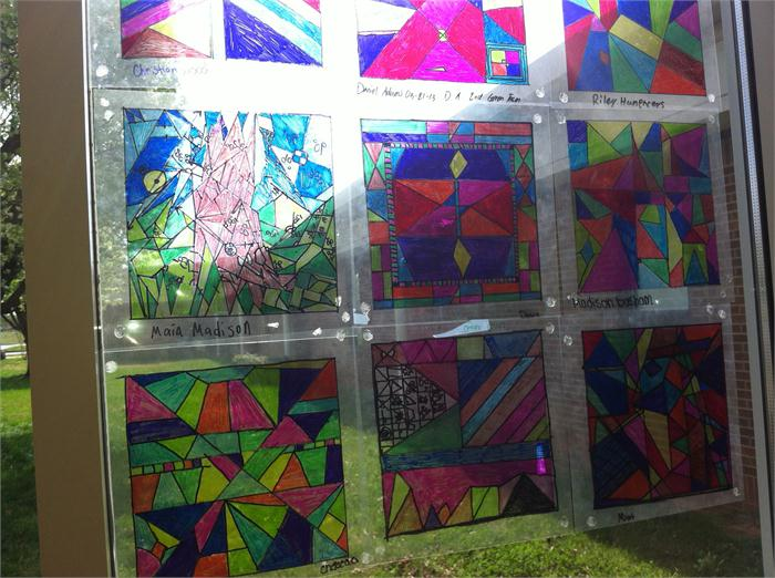 Stained glass project in math class