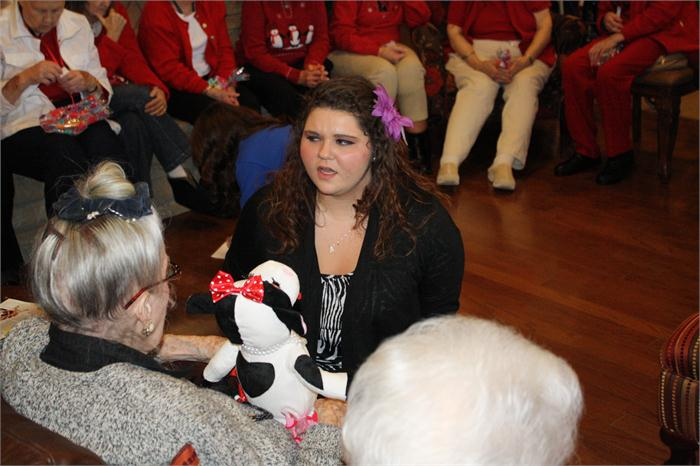 WEHS FBLA students make Valentine's visit to retirement home