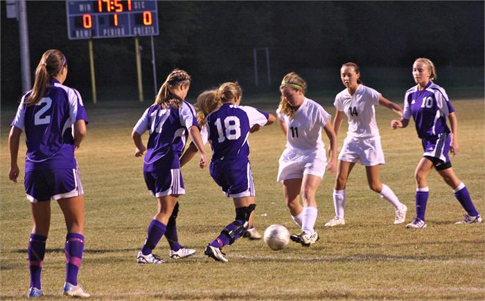 Greenwood girls' soccer in district tournament