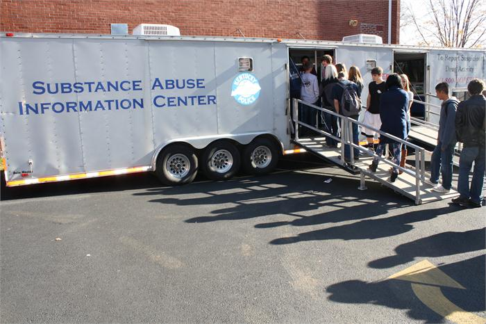 Substance Abuse Information Trailer at WCHS