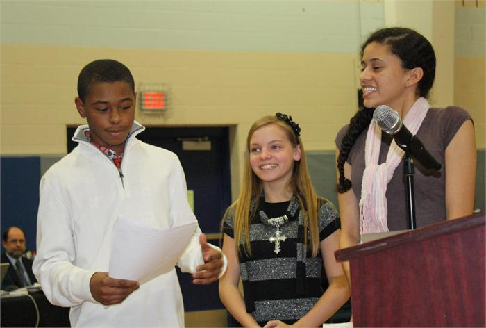 Moss Middle students present to school board