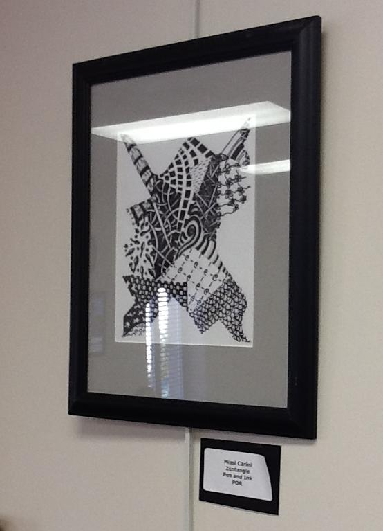 Art teachers have work displayed at library