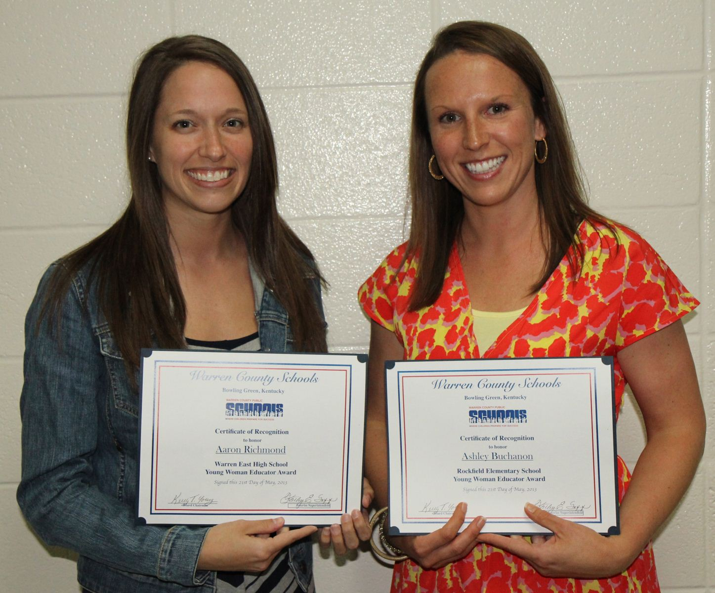 Two Warren County Public Schools teachers were honored May 21 during Warren  County Board of Education recognition ceremonies for receiving Young  Educator ...