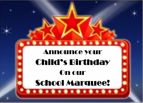 Image result for Birthday on marquee