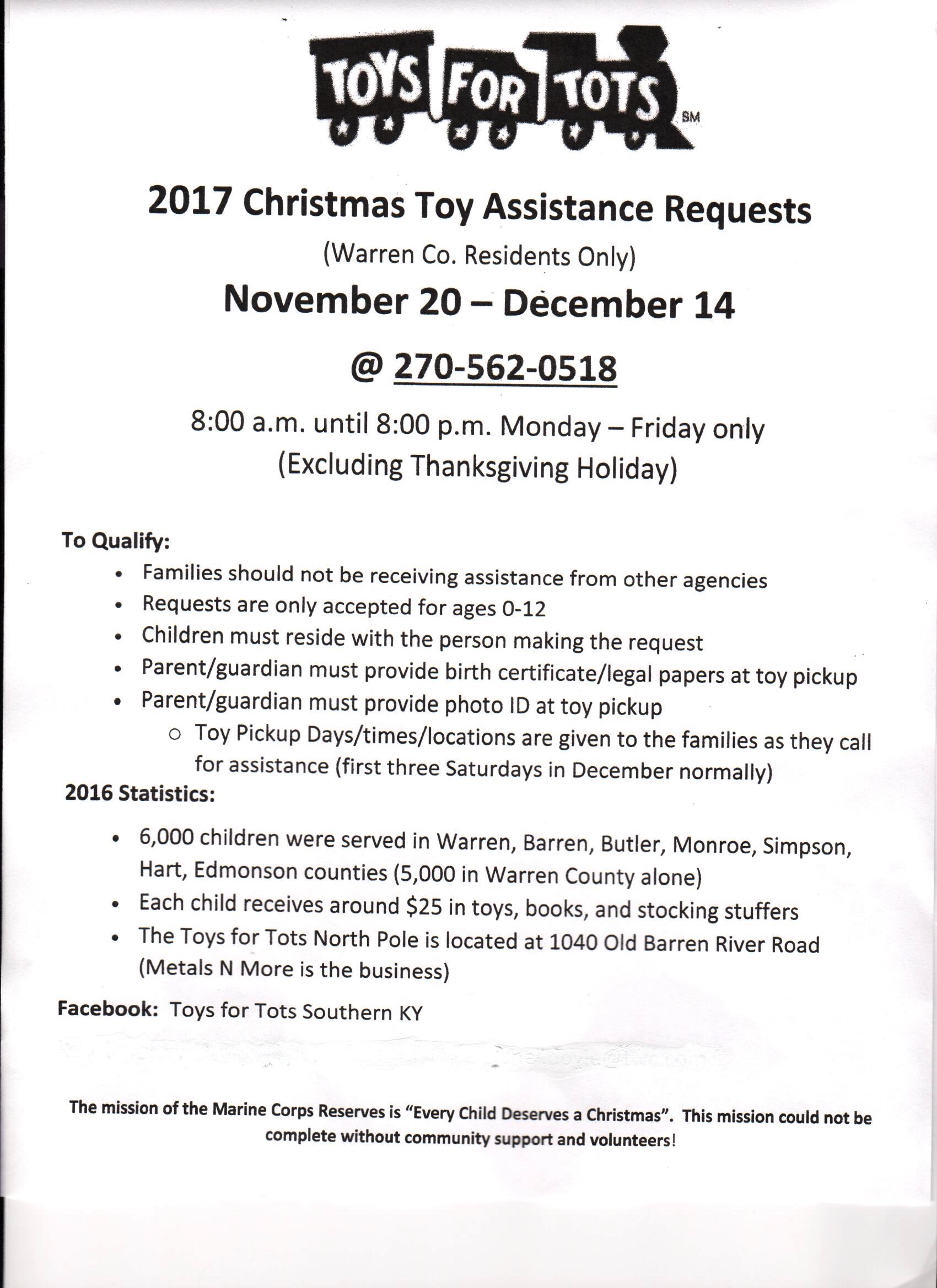 Toys For Tots Family Request : Toys for tots statistics wow