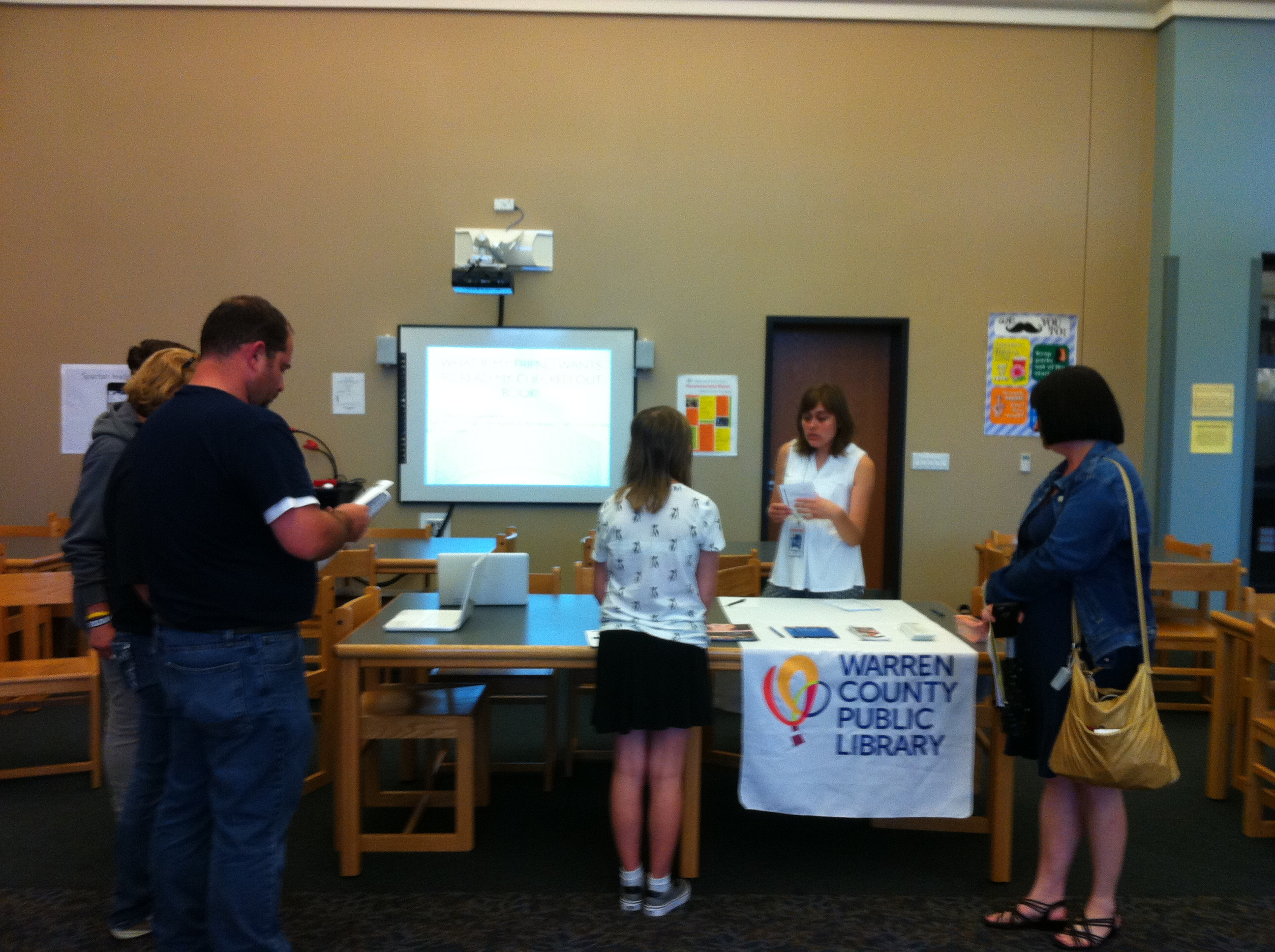 WCPL @ SWMS 7th Grade Orientation in SWMS Library Media Center