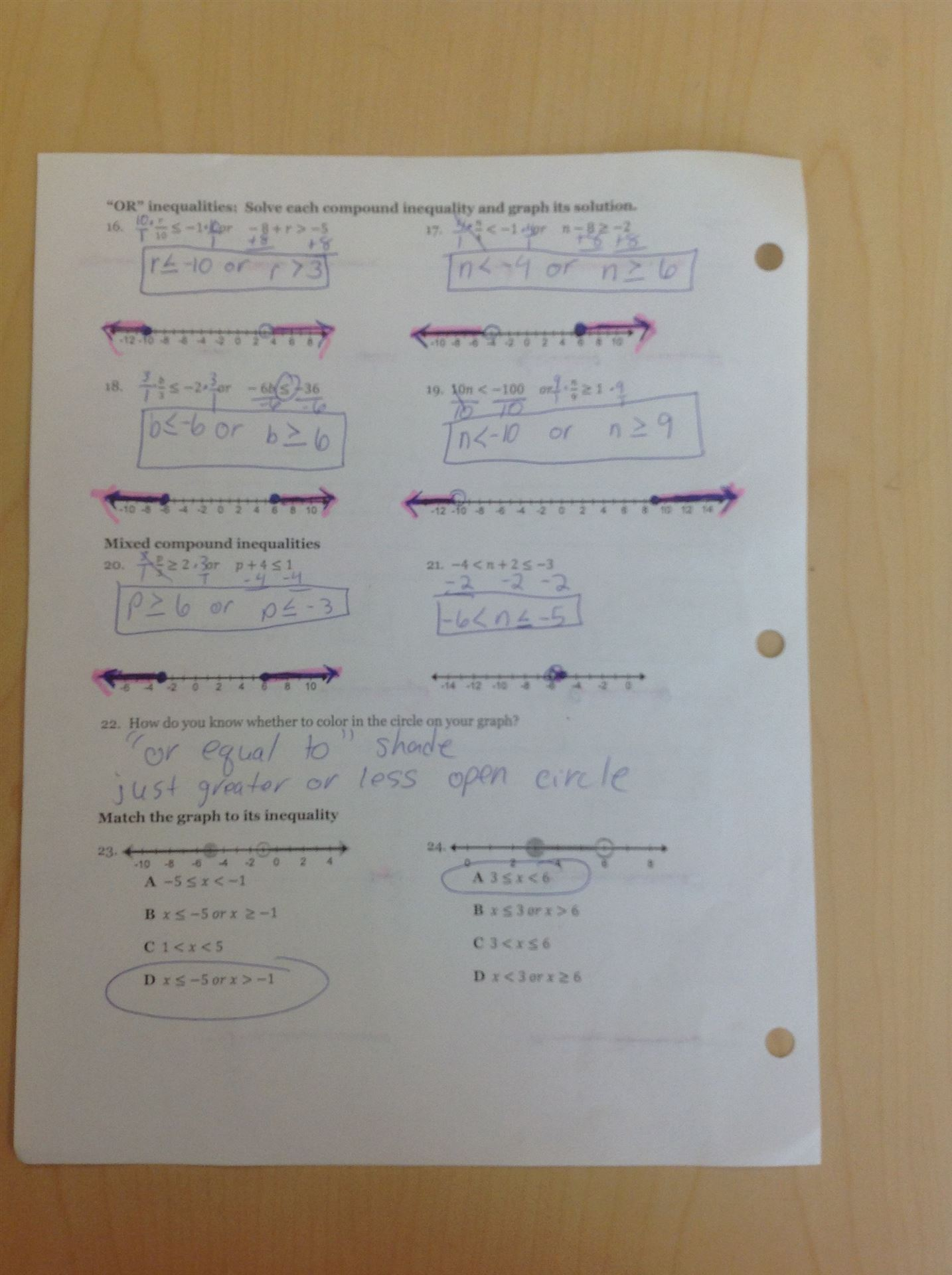 Graphing Compound Inequalities Worksheet With Answers - Kidz Activities