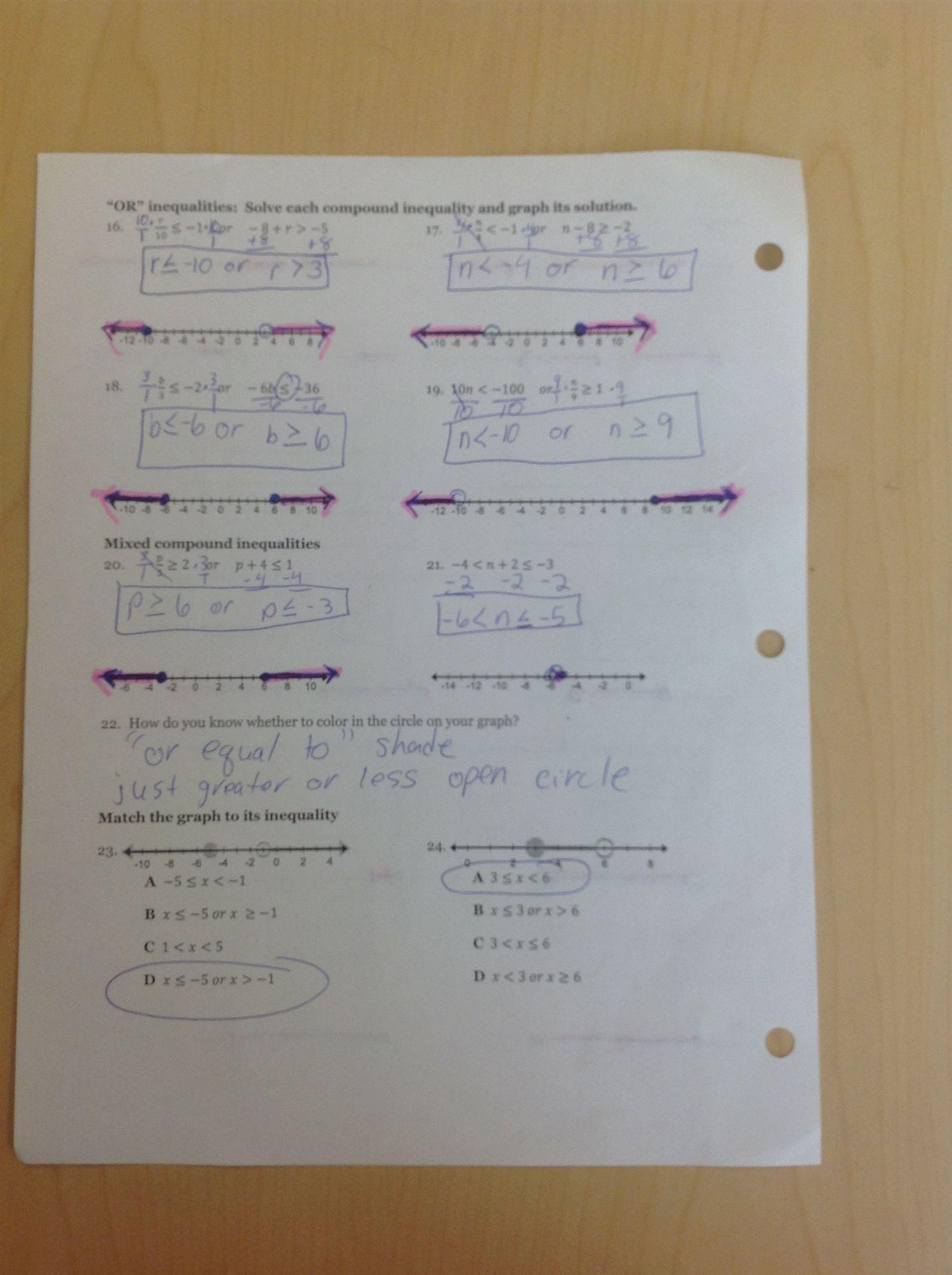 KutaSoftware: Algebra 2- Compound Inequalities Part 1 - YouTube