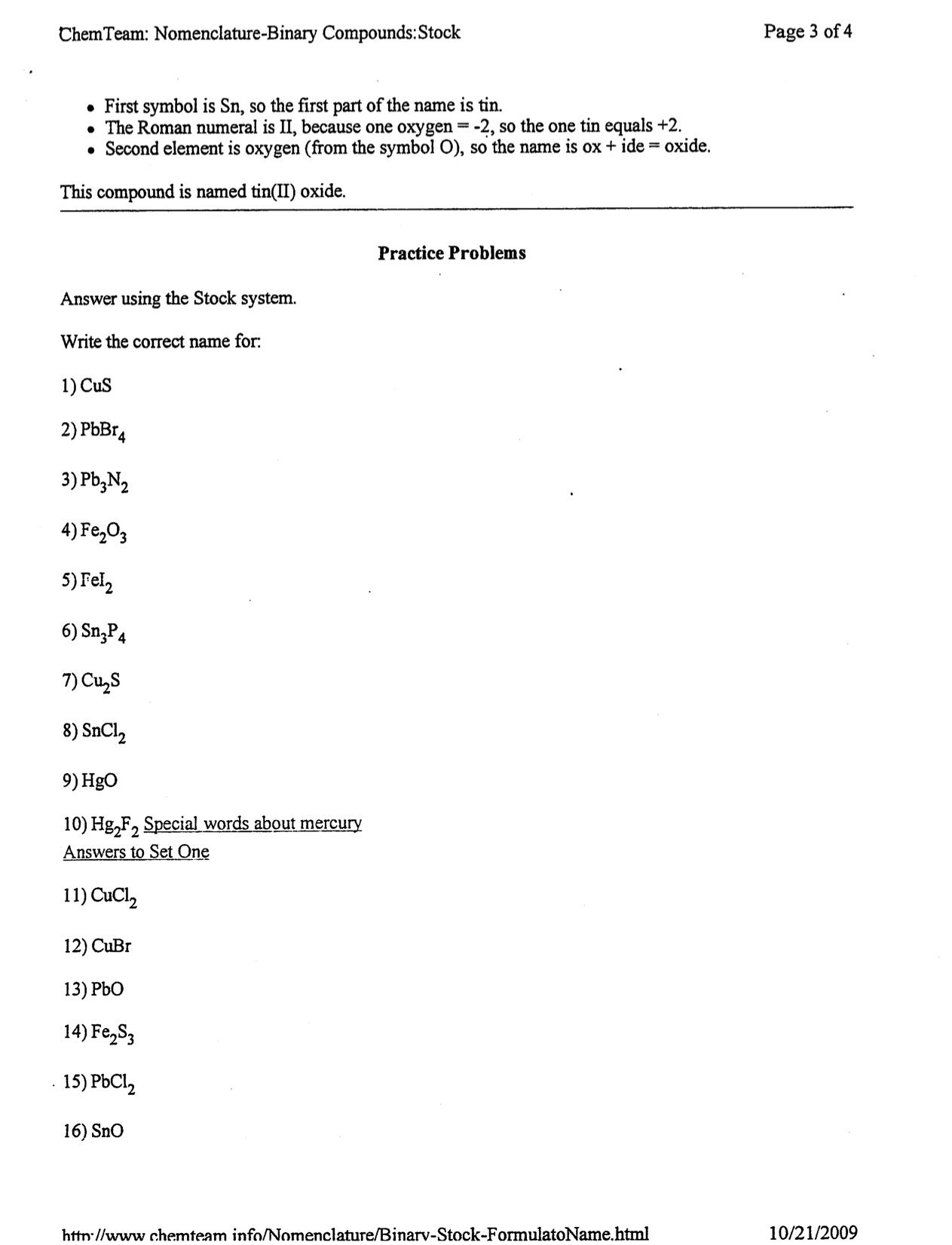 Warren County Public Schools – Ionic Compound Worksheet 1